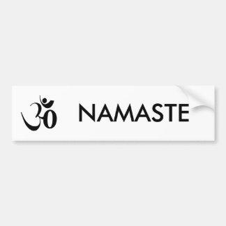 Meditación de la yoga de OM Pegatina Para Auto