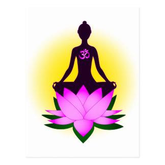 Meditación de la yoga tarjetas postales