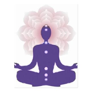 Meditación de la yogui, yogui, zen, paz, chakra, tarjetas postales