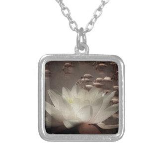 Meditación de Lotus Colgante Cuadrado