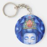 Meditación de medianoche Kuan Yin del zen Llaveros