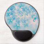 Meditación del azul del arte abstracto alfombrillas de raton con gel
