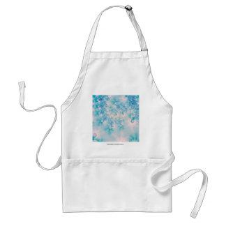 Meditación del azul del arte abstracto delantal