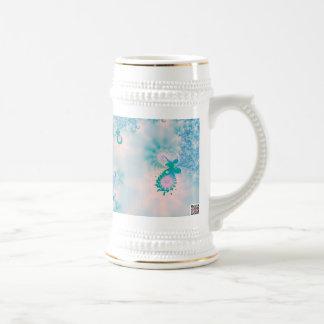 Meditación del azul del arte abstracto taza de café