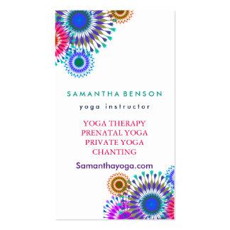 Meditación elegante de la yoga del logotipo tarjetas de visita
