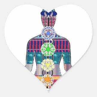 Meditación NVN688 curativo espiritual FU de la yog Calcomanía Corazón Personalizadas