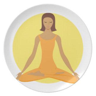Meditación Platos De Comidas