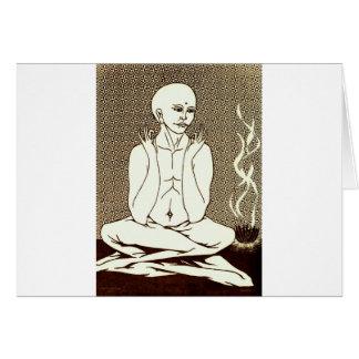 """""""Meditación"""" por E. Lewis Evans Tarjeta De Felicitación"""