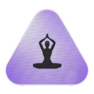 Meditación púrpura del zen altavoz bluetooth