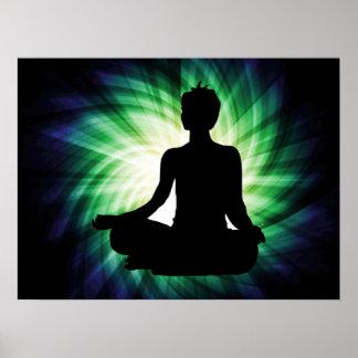 Meditación que brilla intensamente Ardha Poster