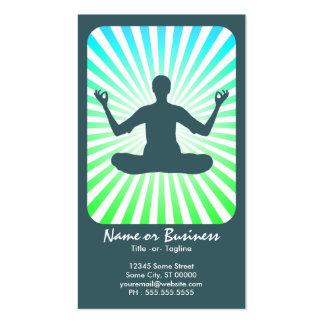 meditación: rayos retros plantillas de tarjeta de negocio