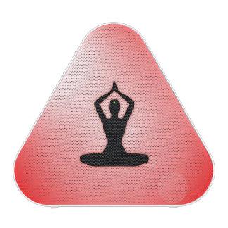 Meditación roja del zen altavoz bluetooth