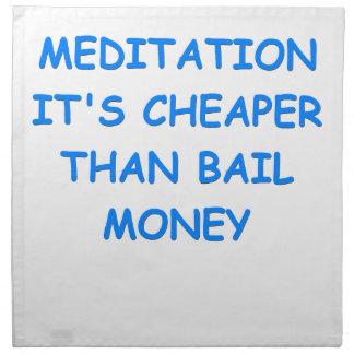 meditación servilletas imprimidas