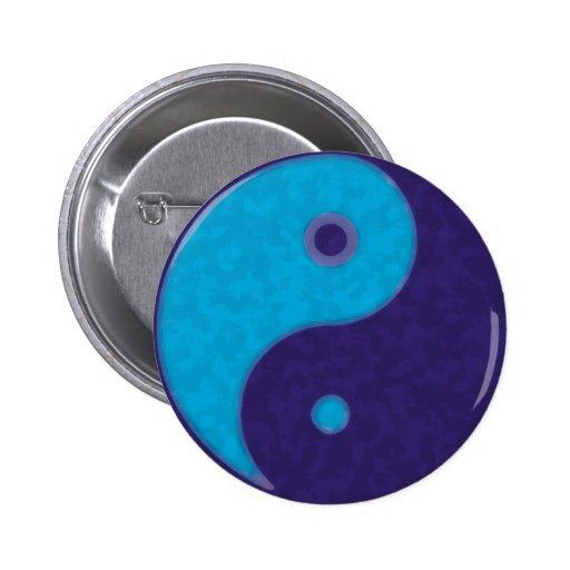 meditación tao del zen de yang del yin pin redondo de 2 pulgadas