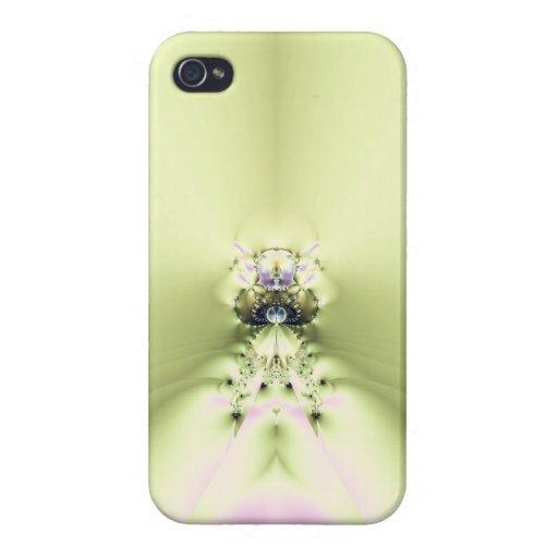 Meditación verde iPhone 4 carcasas