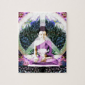 Meditación y rezos de la paz de mundo puzzles con fotos