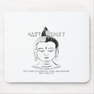 Meditación y yoga Este-Oeste, Buda, NYC Tapete De Raton