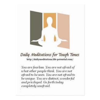 Meditaciones diarias tarjetas postales