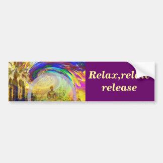 Meditaciones y Colors_ Pegatina De Parachoque