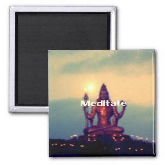 Meditate 2 Inch Square Magnet