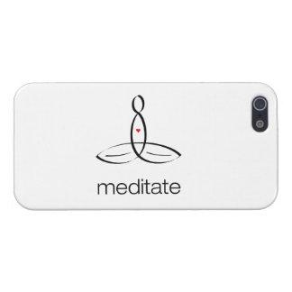 Meditate - el estilo regular negro iPhone 5 carcasas