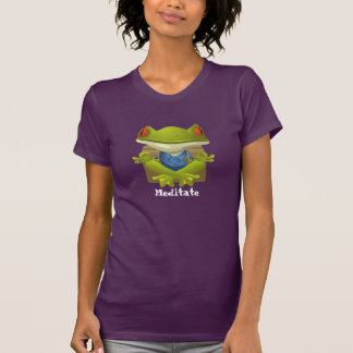 Meditate, Frog meditating tshirt