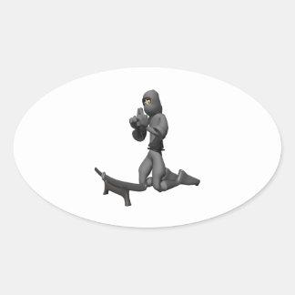 Meditate Oval Sticker