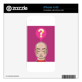 Meditate over a question skin for the iPhone 4S