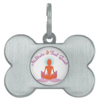 Meditate Pet ID Tags