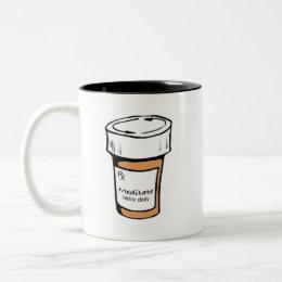 Meditate Twice Daily Two-Tone Coffee Mug