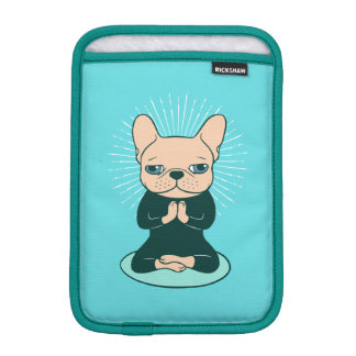 Meditate with the cute Frenchie to stay Zen iPad Mini Sleeve