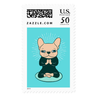 Meditate with the cute Frenchie to stay Zen Postage