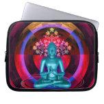 Meditating Blue Buddha Laptop Sleeve