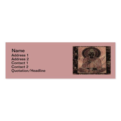 "Meditating Buddha4 Skinny 3""x1"" Business Card"