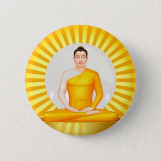 Meditating Buddha button