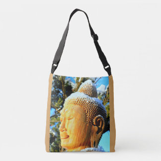 meditating buddha face buddha tote bag