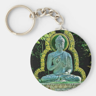 Meditating Buddha Keychain