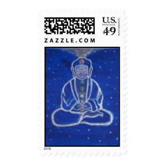 Meditating Buddha Postage Stamp