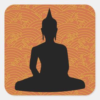 Meditating Buddha Square Sticker