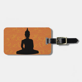 Meditating Buddha Tags For Luggage