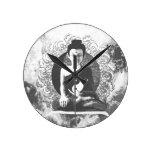 Meditating Buddha with Yin Yang Wall Clock