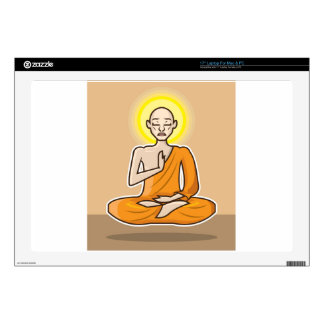 "Meditating floating Monk Decal For 17"" Laptop"