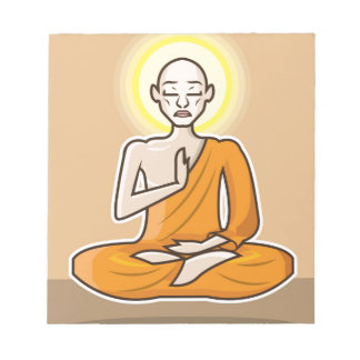 Meditating floating Monk Notepad