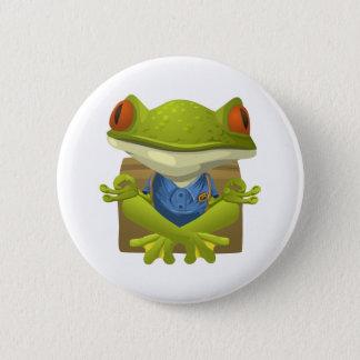 Meditating Frog Button