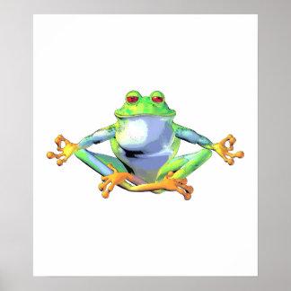 Meditating Frog Poster