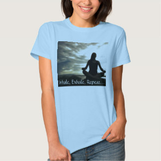 meditating_girl, Inhale, Exhale, Repeat.... T Shirt