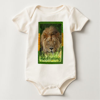 meditating infant onsie creeper