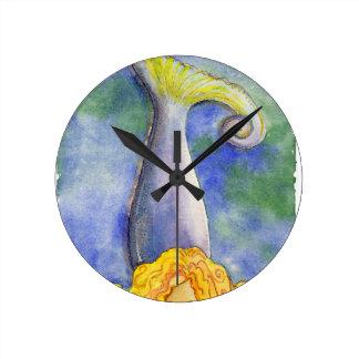 Meditating Mellow Mermaid Clock