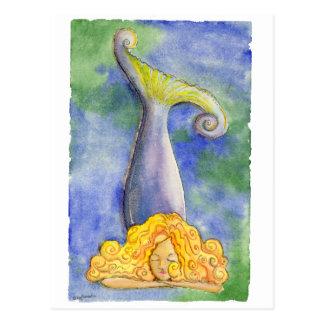 Meditating Mellow Mermaid Postcard