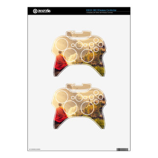 Meditating Monk Before Large Temple Xbox 360 Controller Skins